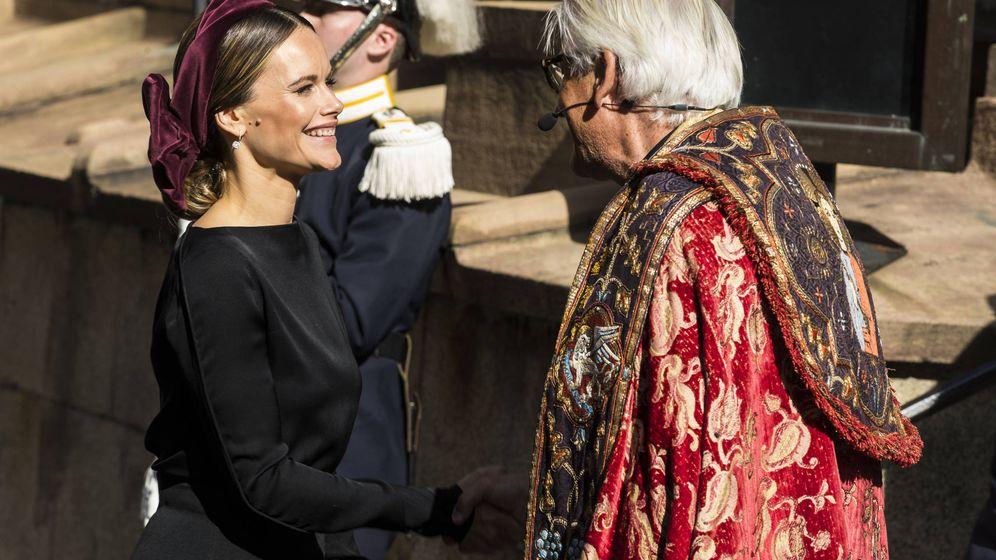 Foto: Sofía Hellqvist, en la apertura del Parlamento. (Getty)