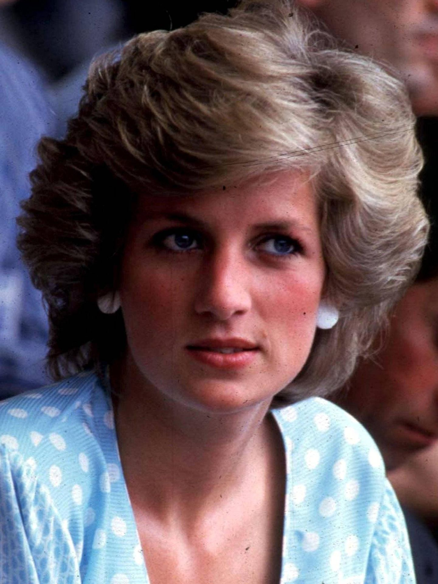 Diana de Gales, con su habitual maquillaje azul. (Cordon Press)