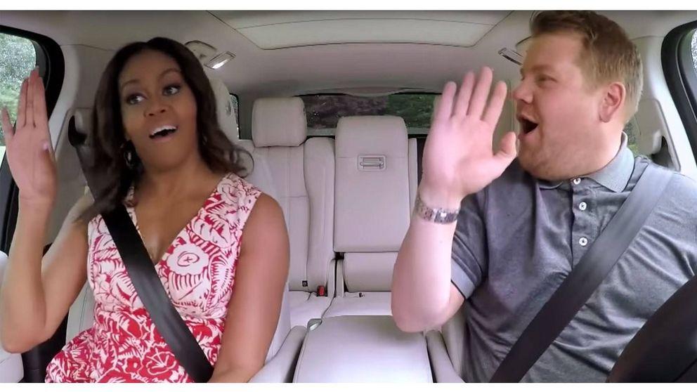 Michelle se viene arriba con el 'Single Ladies' en el karaoke de James Corden