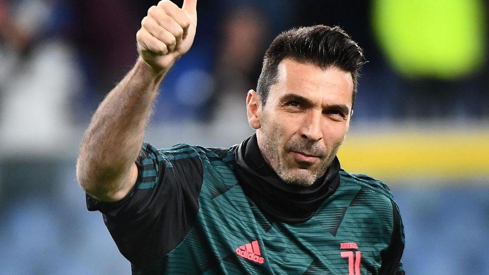 Foto: Buffon en un partido de la Juventus contra la Sampdoria. (Efe)