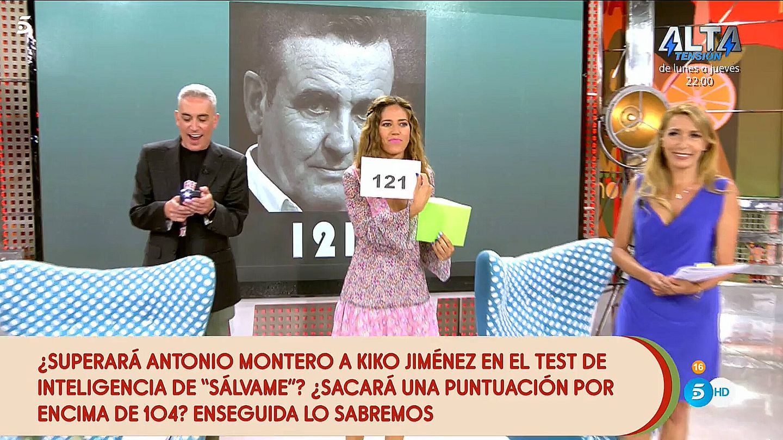 El resultado del test de Antonio Montero. (Telecinco)