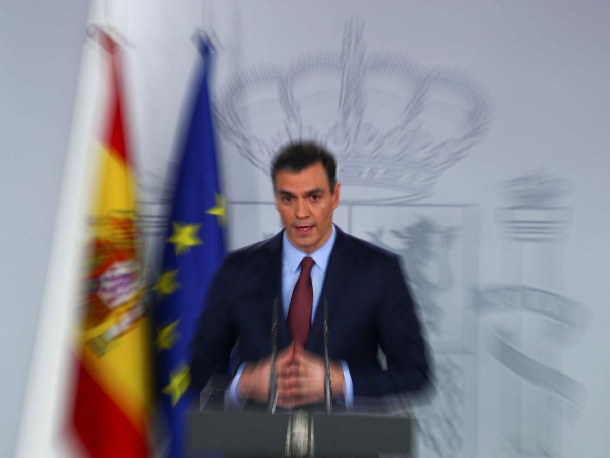 Foto: Pedro Sánchez, durante una rueda de prensa en Moncloa. (Reuters)