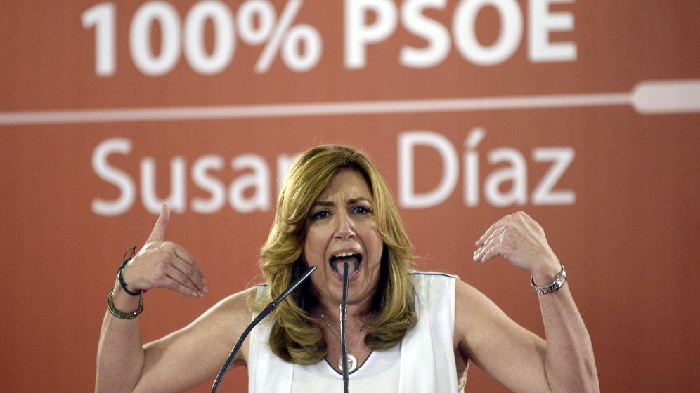 Foto: Susana Díaz, el miércoles, durante un acto con militantes en Valladolid. (EFE)