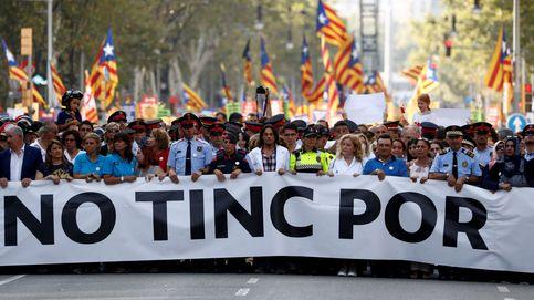 Gran manifestación antiterrorista en Barcelona