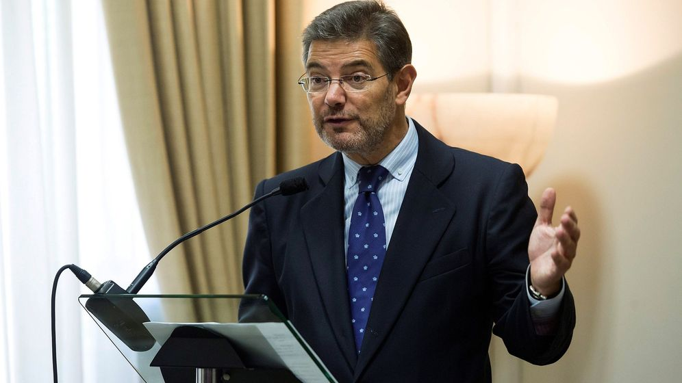 Foto: Rafael Catalá, ministro de Justicia. (EFE)