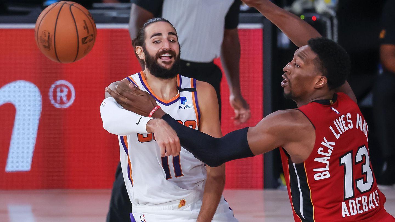 Ricky Rubio, en un partido de la NBA. (EFE)