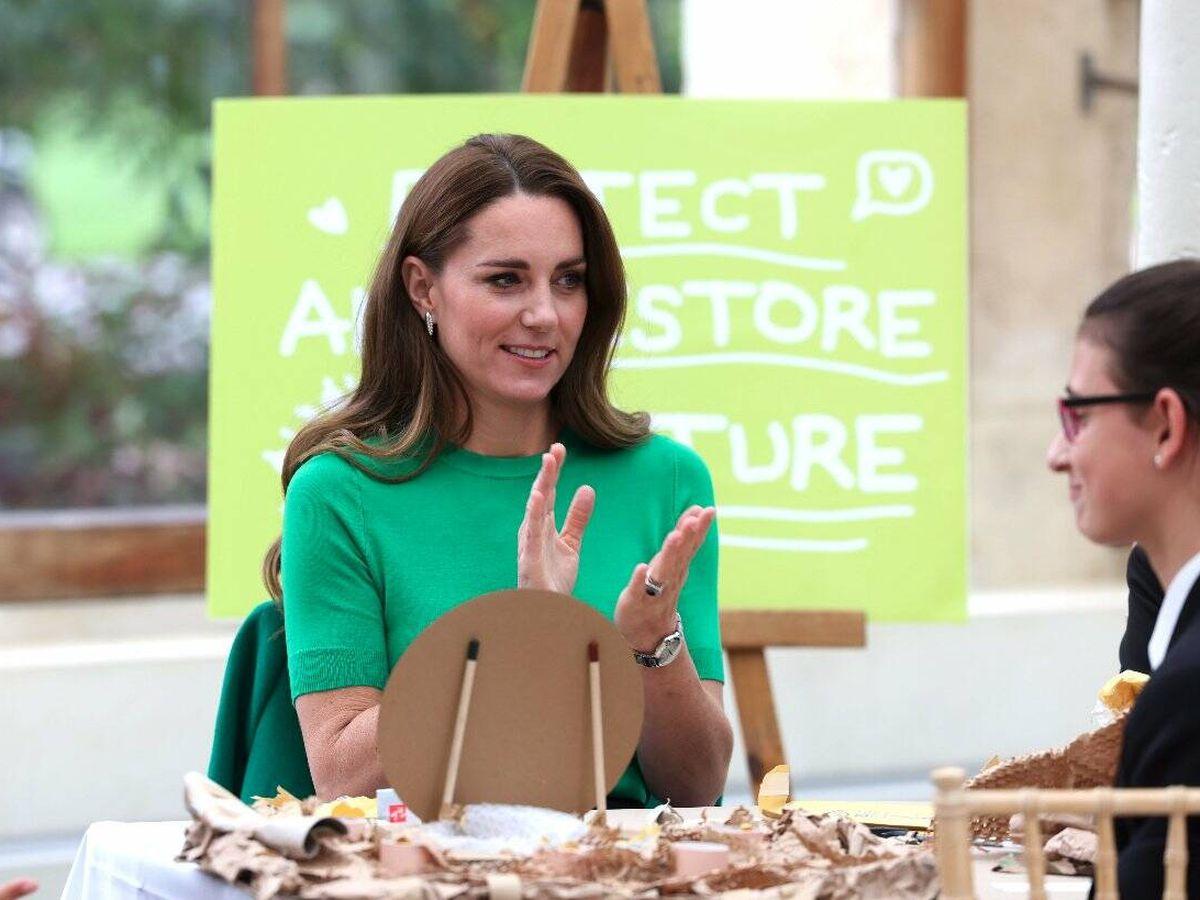 Foto: Kate Middleton, en su última aparición pública. (AP)