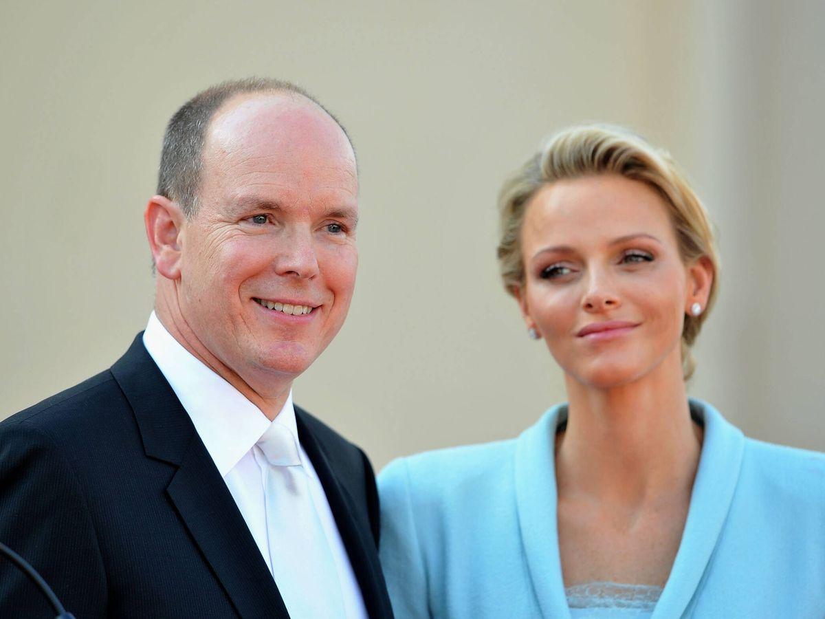 Foto: Alberto y Charlène de Mónaco, en su boda civil. (Getty)