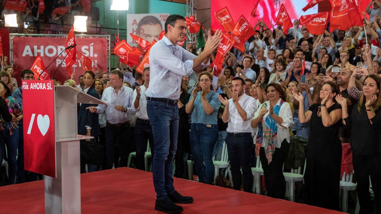 Pedro Sánchez, en campaña. (EFE)