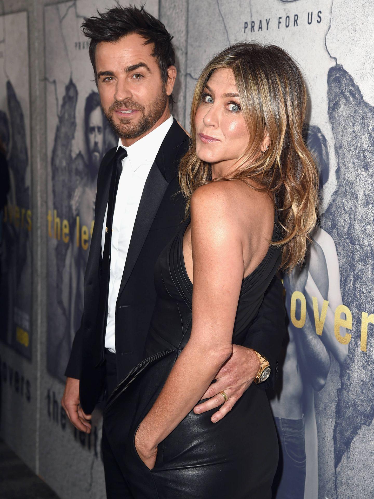Justin Theroux y Jennifer Aniston cuando aún eran pareja. (Getty)