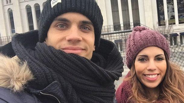 Foto: El futbolista Marc Bartra y la periodista Melissa Jiménez (Instagram)