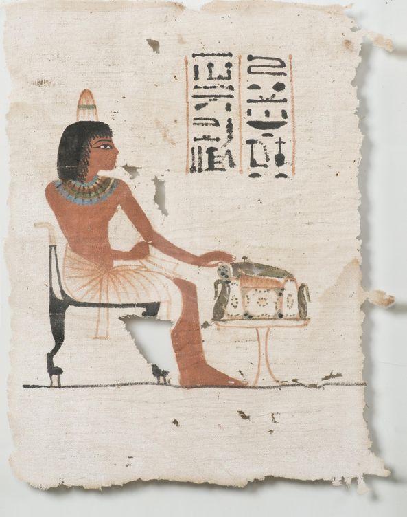 Foto: El paño de lino del Imperio Nuevo egipcio subastado en París