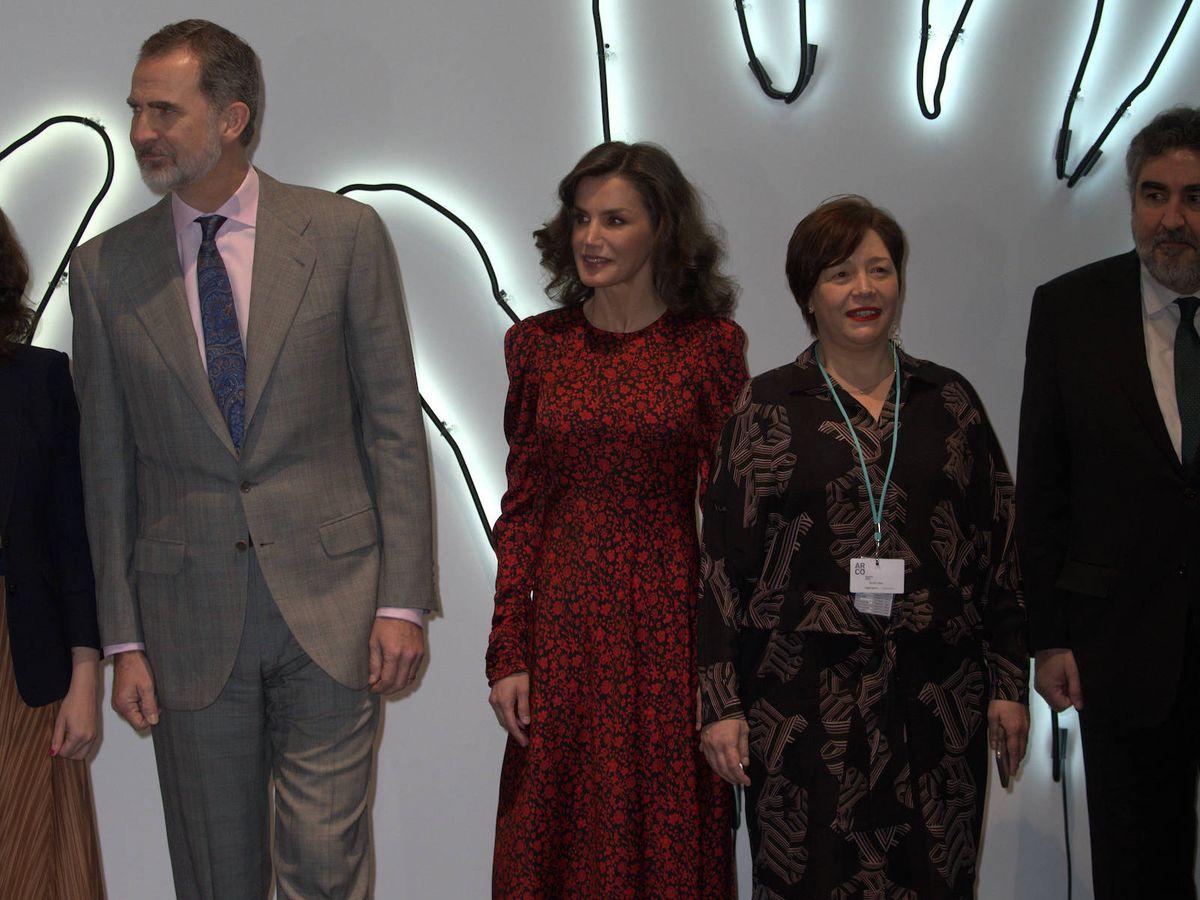 Foto: Los reyes Felipe y Letizia, en ARCO. (Limited Pictures)