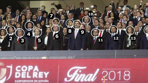 Quién es quién en el palco de la final de Copa: poca política y muchos 'futboleros'