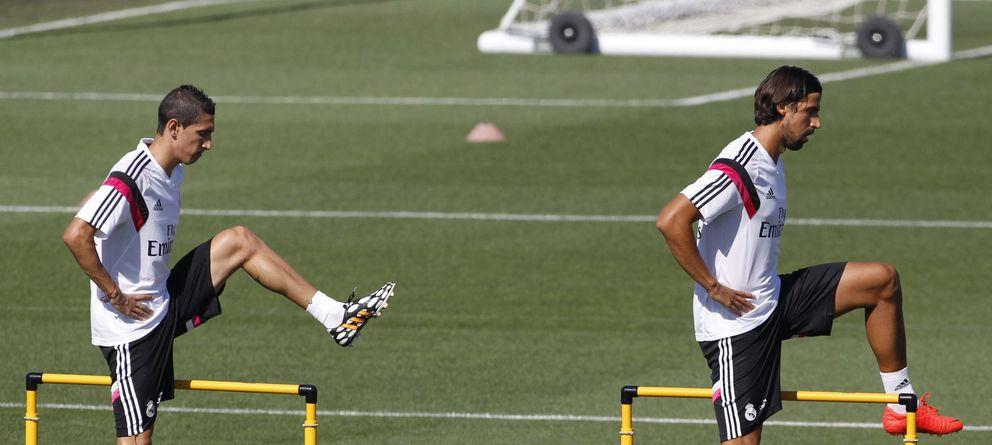 Foto: Di María y Khedira abandonarán en breve el Real Madrid (EFE)