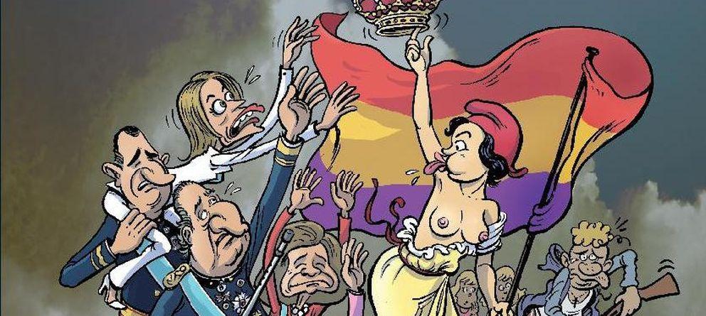 Foto: 'Borbón y cuenta nueva', de Ricardo Pellegrina (Evolution Cómics)