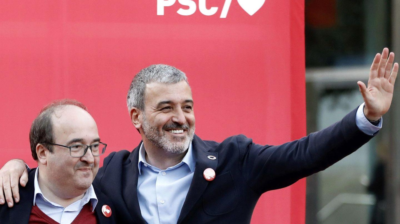 Miquel Iceta y Jaume Collboni, líderes del PSC en Cataluña y Barcelona. (EFE)