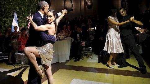 Los Obama se lanzan a bailar un tango en la cena de gala en Buenos Aires
