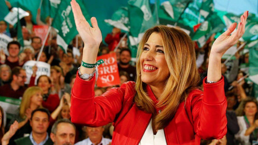 Foto: Susana Díaz, en la recta final de las elecciones de Andalucía en 2018. (Reuters)