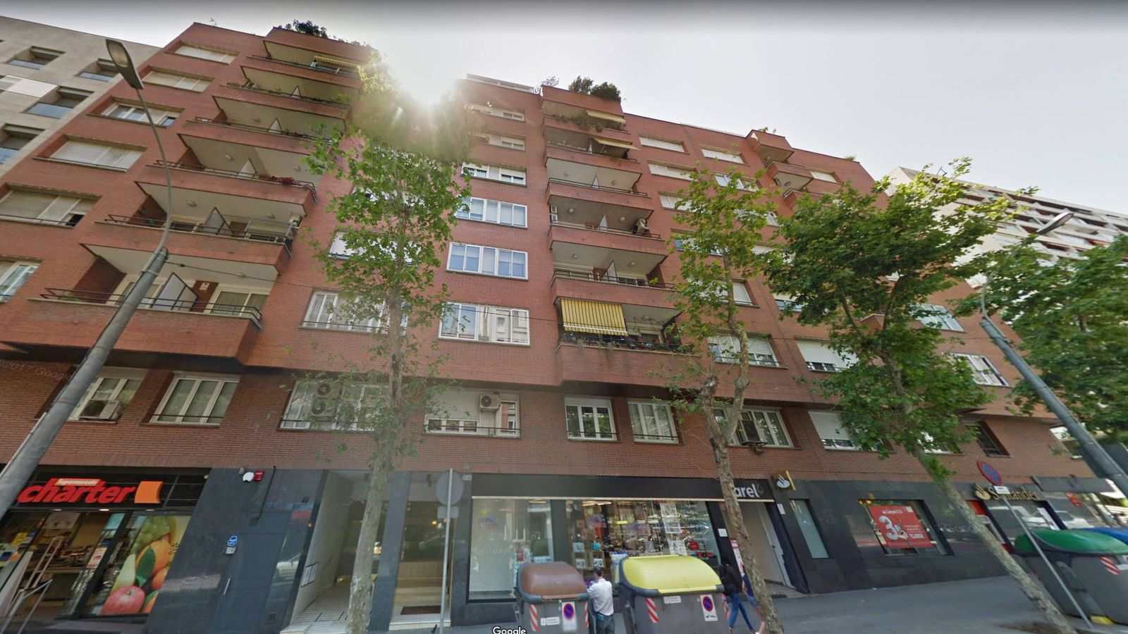 Foto: Número 77 de la calle Numancia, donde el Govern estableció el piso franco. (Google Maps)