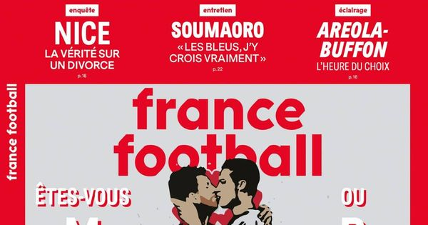El beso fraternal de Cristiano Ronaldo y Messi en la ultima portada de France Football