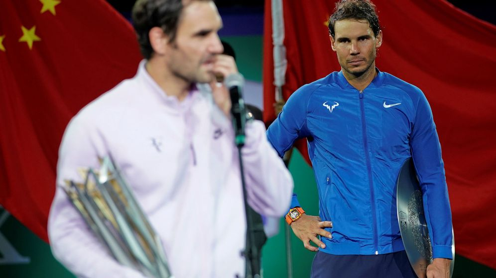 Foto: Nadal y Federer tras la Copa de Maestros del pasado año. (Reuters)