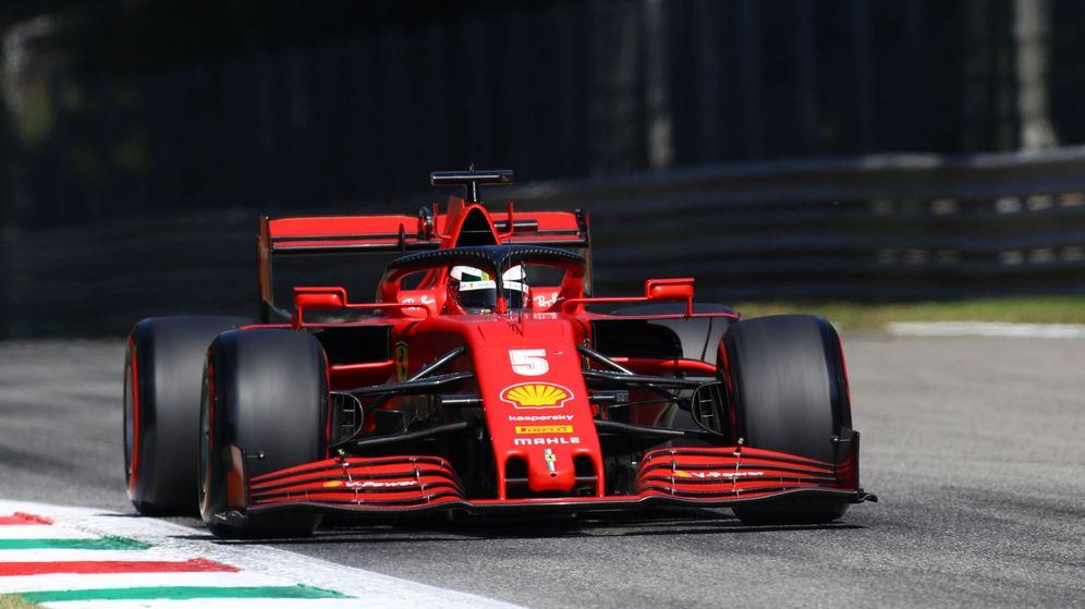 Foto: Sebastian Vettel durante la clasificación del GP de Italia. (Reuters)