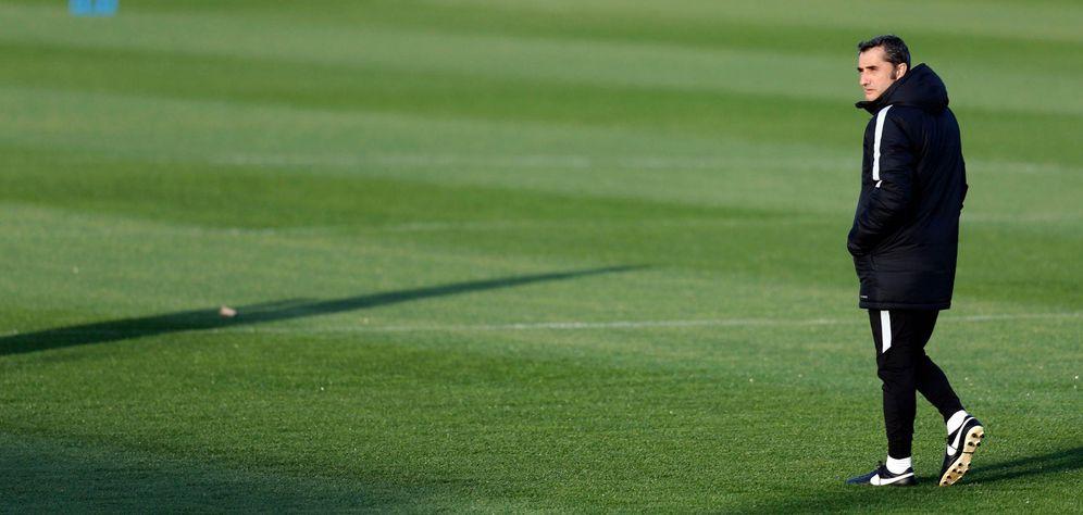 Foto: Ernesto Valverde en un entrenamiento con el Athletic Club. (EFE)
