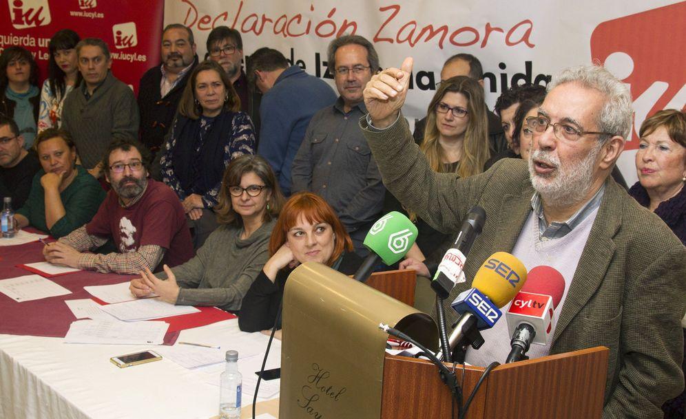 Foto: José Antonio García Rubio, en la presentación de la 'Declaración de Zamora', en la ciudad castellanoleonesa, este 13 de febrero. (EFE)