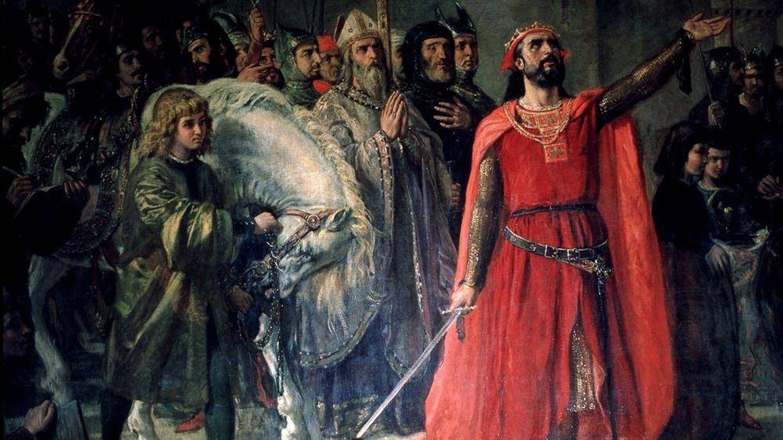 Foto: Alfonso X el Sabio, en un óleo de Marías Moreno.