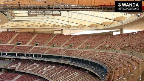 Ya está lista la cubierta de la nueva casa del Atlético, el Wanda Metropolitano