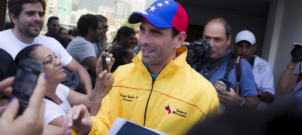 Foto: El opositor venezolano Henrique Capriles, primo de Miguel Ángel Capriles (Efe)