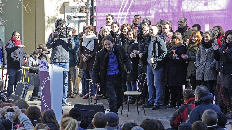 Foto: Pablo Iglesias junto a otros miembros de Podemos durante uno de sus últimos actos públicos en Madrid (Reuters)