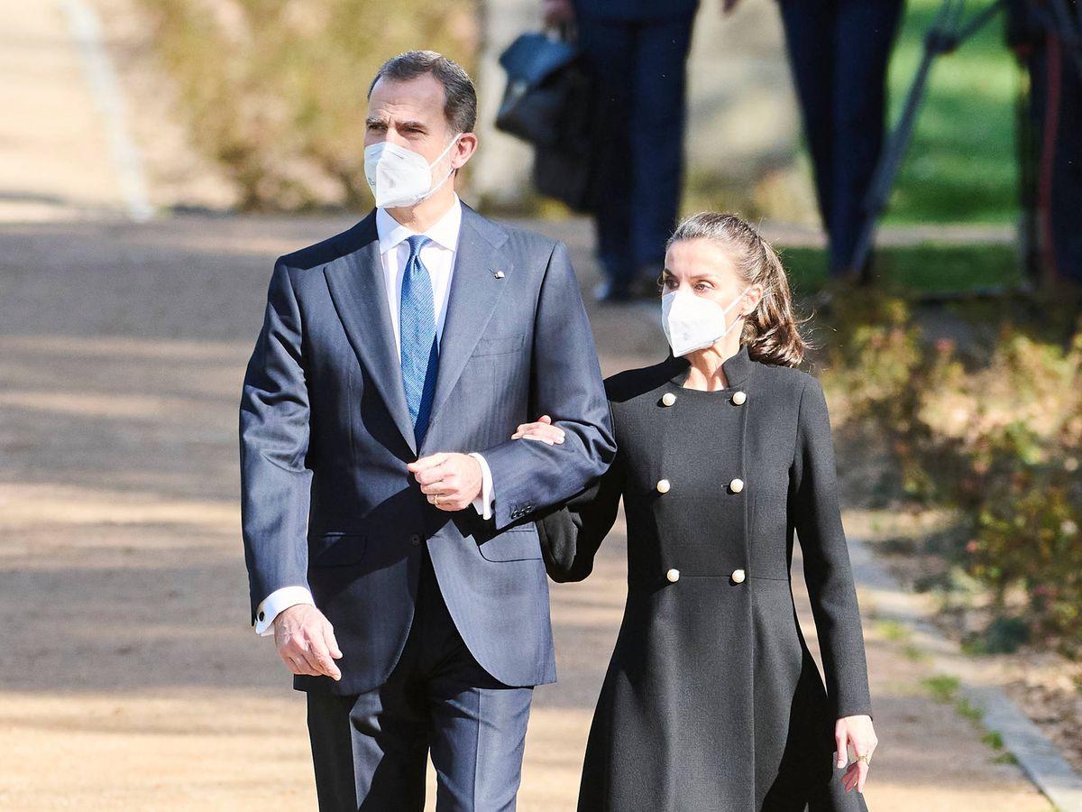 Foto: Los reyes Felipe y Letizia, a su llegada al acto por las víctimas del terrorismo. (Limited Pictures)