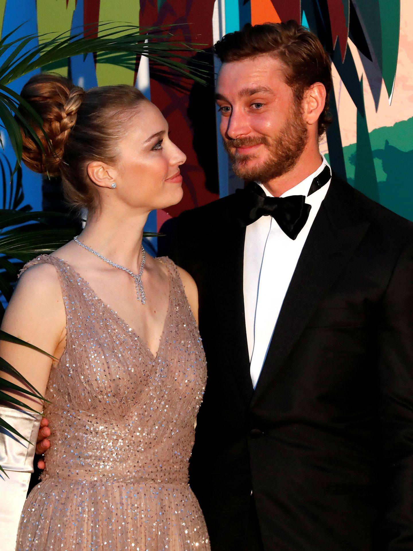 Pierre Casiraghi y Beatrice Borromeo en el Baile Rosa de Mónaco. REUTERS