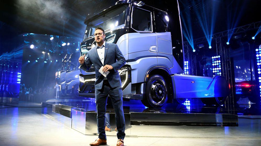 Foto: El CEO y fundador de Nikola, Trevor Milton, en la presentación del camión de firma en 2019. (Reuters)