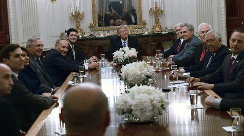 Líderes del congreso se reúnen con Tump