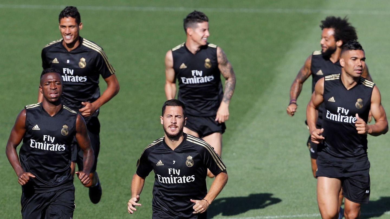 Entrenamiento de esta semana del Real Madrid. (EFE)