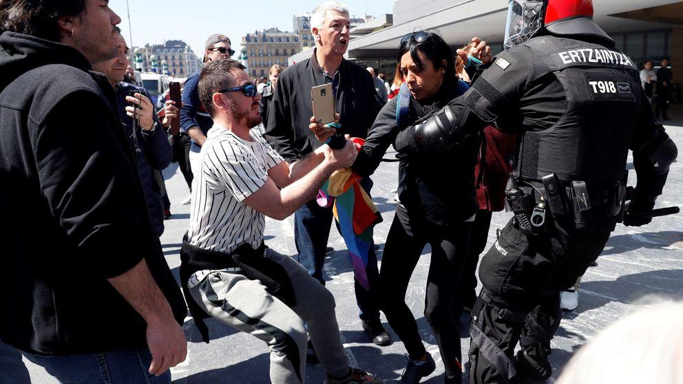 Agresiones, insultos y varios detenidos en los actos de Vox en San Sebastián y Bilbao