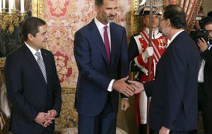 El Rey reúne a Rajoy, Pérez de los Cobos y Chacón