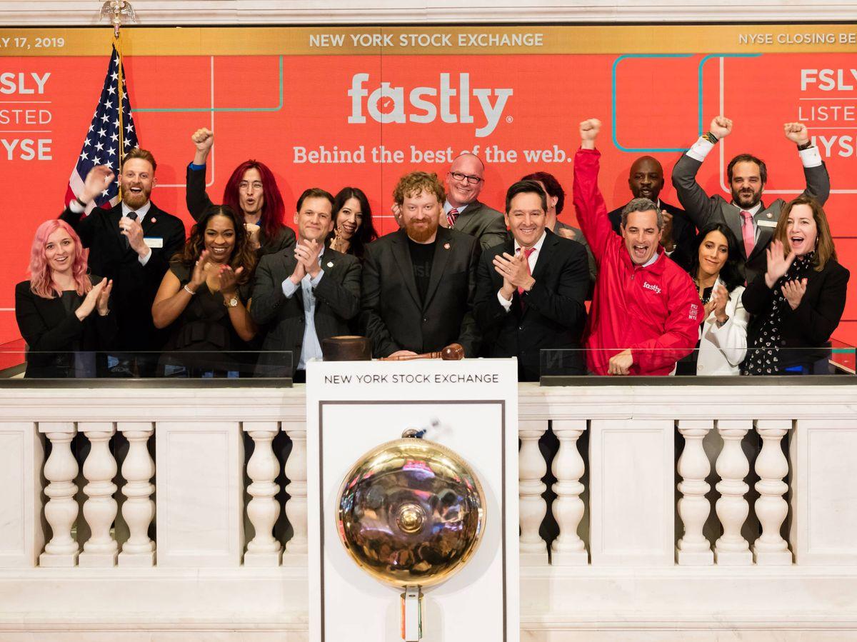 Foto: Salida a Bolsa de Fastly en 2019 en el NYSE. (Foto: Faslty)