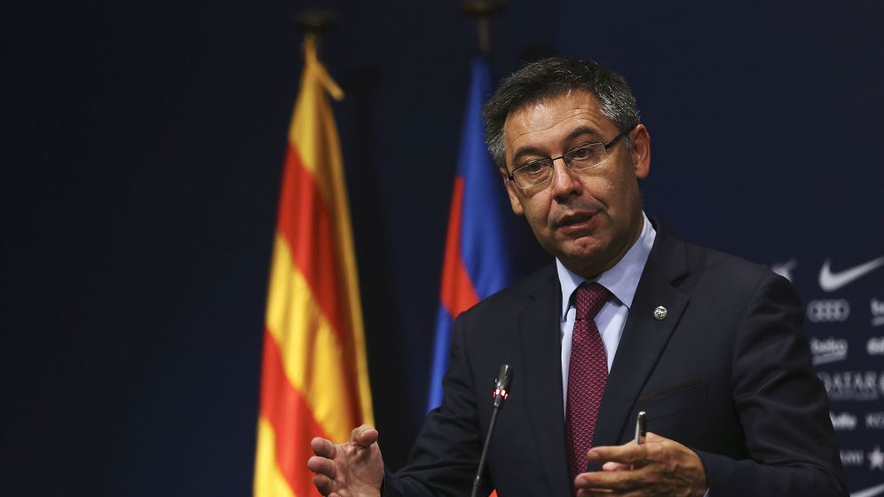 Foto: Bartomeu, presidente del FC Barcelona, en la presentación de Valverde. (EFE)