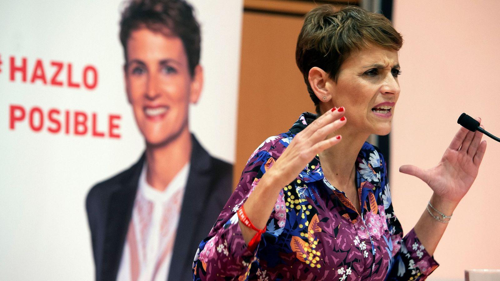Foto: María Chivite, secretaria general del PSN-PSOE, el pasado 9 de mayo en Pamplona. (EFE)