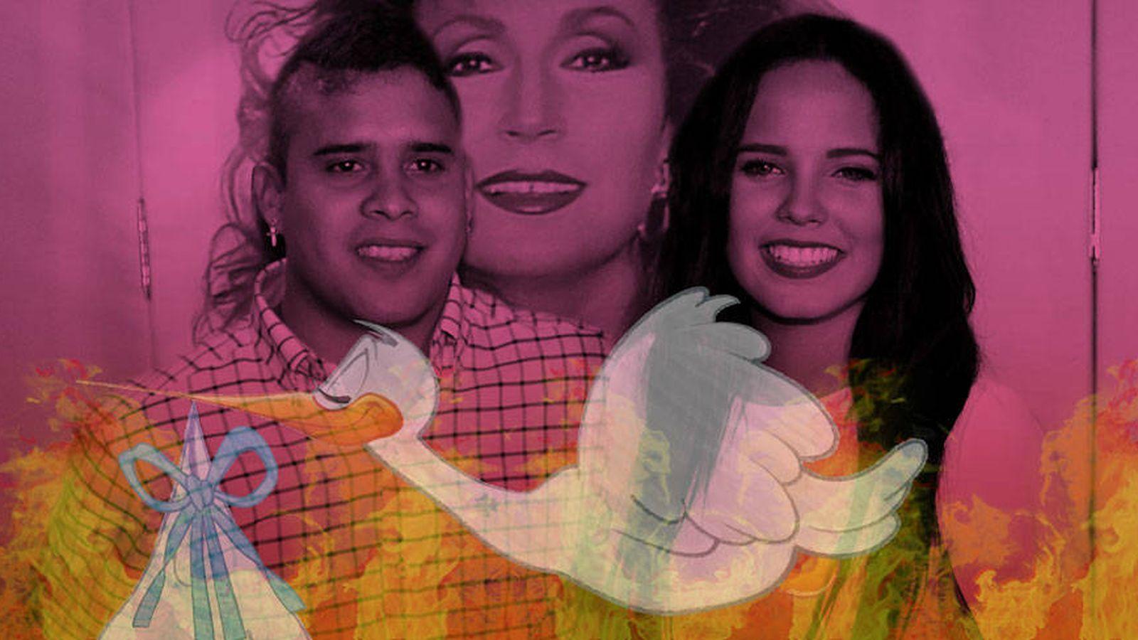 Foto: José Fernando y Gloria Camila en un fotomontaje elaborado por Vanitatis.