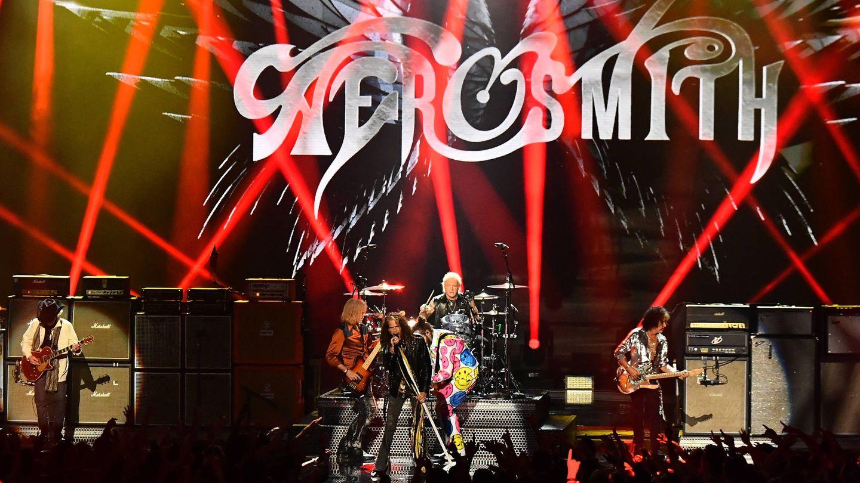 Actuación de Aerosmith. (Getty)