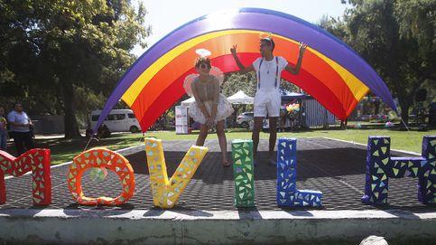 Manifestación para pedir el matrimonio igualitario en Chile