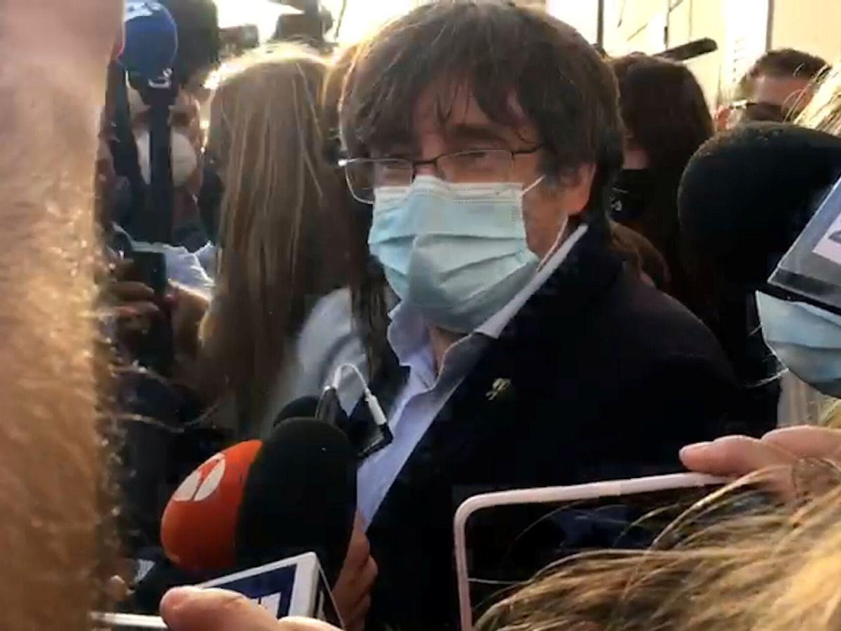 Foto: El expresidente catalán, Carles Puigdemont, tras el arresto. (Reuters)