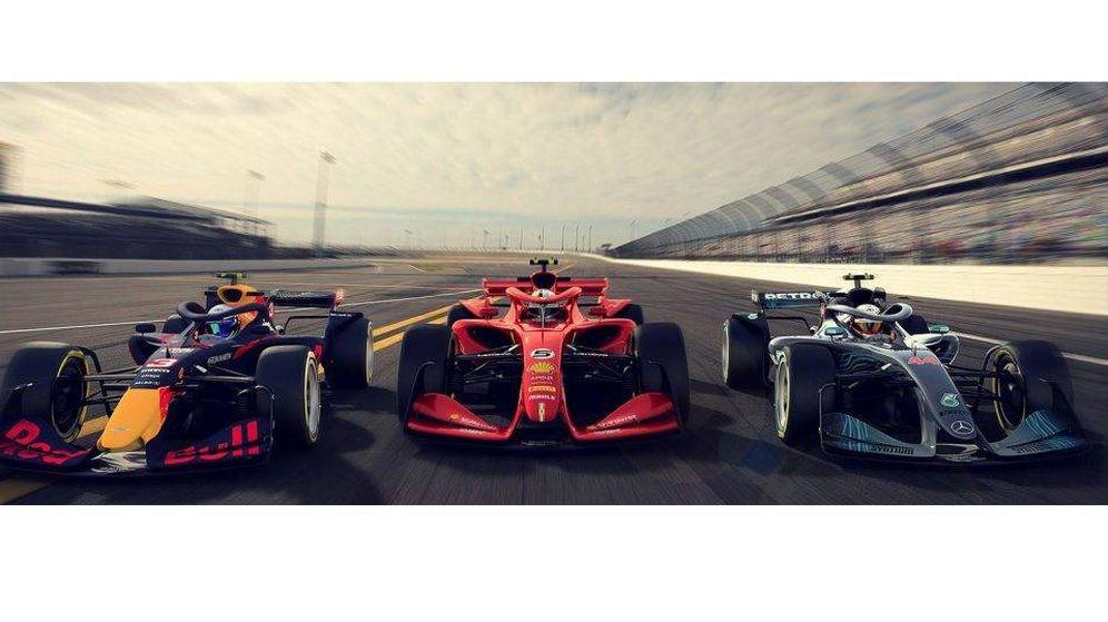 Foto: Los tres nuevos conceptos que presentó la Fórmula 1 para 2021. (F1)