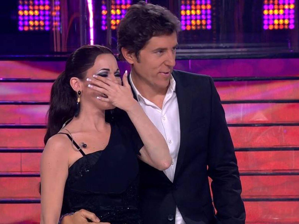 Foto: María Isabel llorando en 'Tu cara me suena'. (Antena 3)