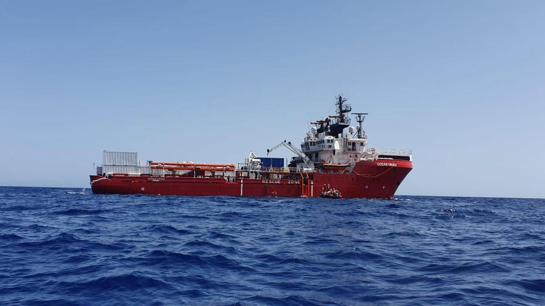 Foto: El barco de rescate 'Ocean Viking'. (Reuters)